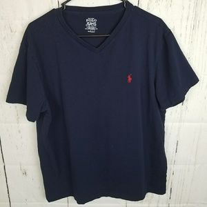 Polo Ralph Lauren Blue Tee. Size Large